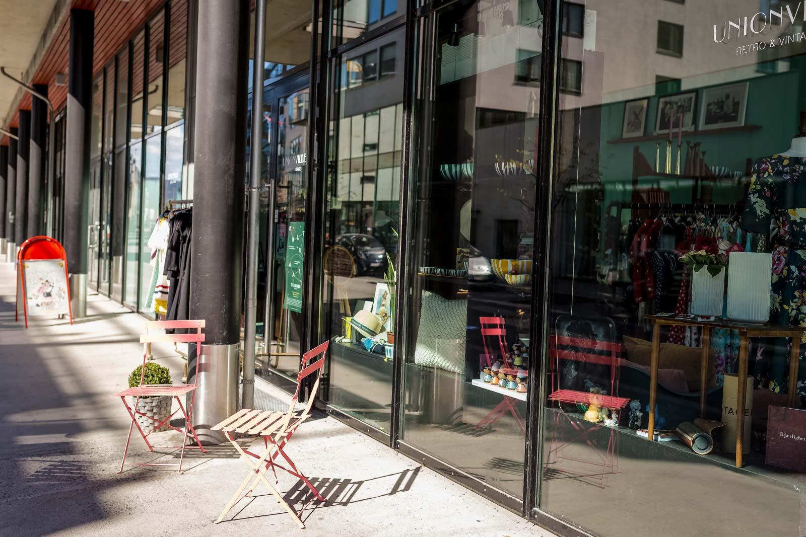 Butikker i Drammen / Papirbredden